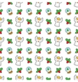 Christmas Seamless Pattern with Angel vector image