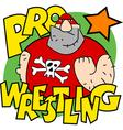 Pro wrestling vector image vector image