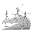 Heliograph vintage engraving vector image vector image