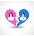 people break the love relationship concept vector image
