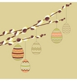 pussy willow branches vector image vector image