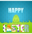 Easter background with easter bunny vector image
