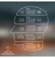 brain linear blur infographic Template for vector image