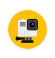 action camera icon in flat style vector image