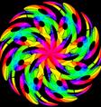 hypnotic color swirl vector image
