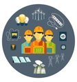 Power station energy icons vector image