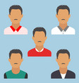 set of man portrait various and modern avatar vector image