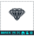 Diamond icon flat vector image