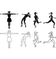 Silhouette Exercising vector image