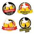 Set of Oktoberfest labels badges menu elements vector image vector image