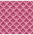 seamless baroque damask luxury pink background vector image