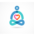 yoga icon element and symbol vector image