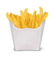 French fries isolated vector image