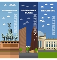 Berlin tourist landmark banners vector image