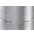 Tech grunge metallic background vector image vector image