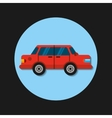 car vehicle transport icon vector image