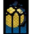 Gothic Window and Moon vector image