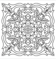 Hand drawing zentangle mandala element Italian vector image