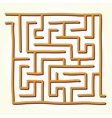 Hand drawn labyrinth vector image