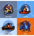 Racer Icons Set vector image