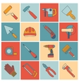 Repair construction tools flat line vector image