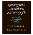 Retro brush script lettering font handwritten vector image