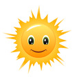 smiling sun vector image
