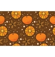 Star anise and tangerine Christmas pattern vector image