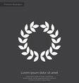 wreath premium icon vector image