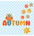Autumn lettering vector image