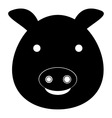 Pig icon simple style vector image