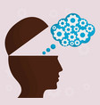 head with speech bubble icon vector image