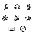 Set of music and sound icons vector image vector image
