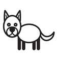 Cute animal dog - vector image