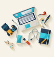 Workplace concept vector image
