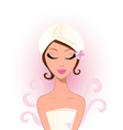spa and wellness beauty woman vector image vector image