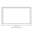 led tv vector image vector image