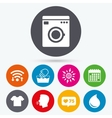 Wash icon Not machine washable symbol vector image