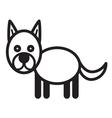 Cute animal dog - vector image