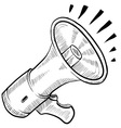 Doodle megaphone electronic vector image