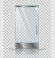 glass door of modern building or shop vector image
