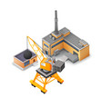 isometric industrial buildings collection vector image