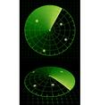 Radar screen vector image