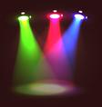 Stage set spotlights vector image