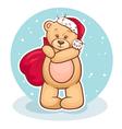 teddy santa claus vector image
