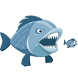 two fish vector image