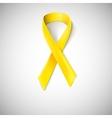 Yellow ribbon loop vector image