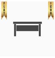 writing desk flat icon vector image