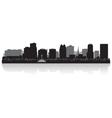 Orlando USA city skyline silhouette vector image vector image
