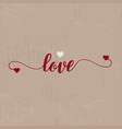 grunge love background vector image